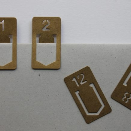 BRASS NUMBER CLIP