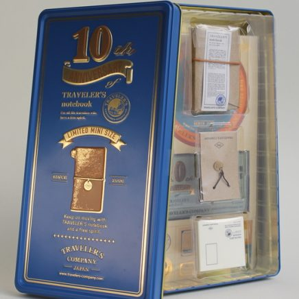TRAVELLER'S NOTEBOOK MINI 10TH ANNIVERSARY BLUE