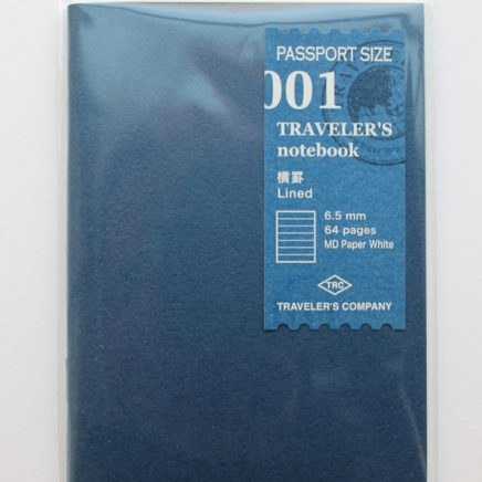 REFILL 001 LINED PASSPORT SIZE