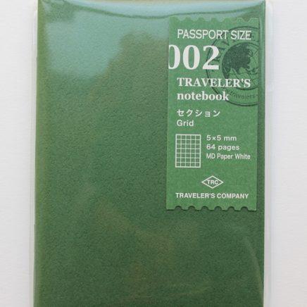 REFILL 002 GRID PASSPORT SIZE