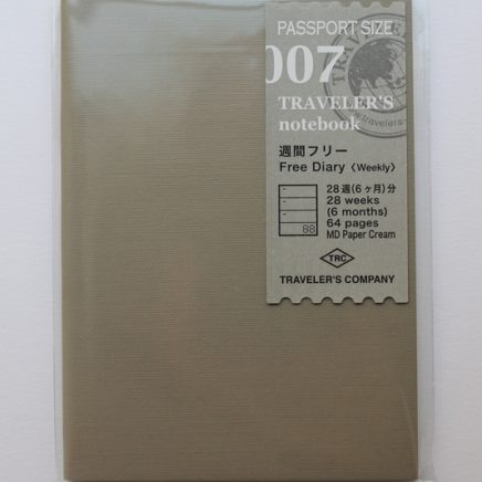 REFILL 007 FREE DIARY WEEKLY PASSPORT SIZE